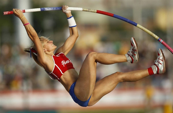 Puerto Rico's Andrea Zambrano competes in the women's pole vault event at the Central American and Caribbean games in Mayaguez - Sunday July 25, 2010. Reuters.