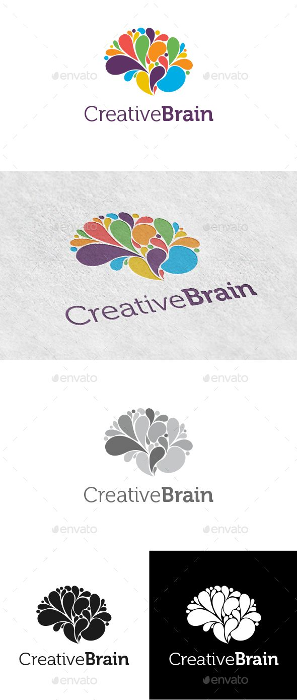 Creative Brain Logo - Logo Templates Download here : http://graphicriver.net/item/creative-brain-logo/8871372?s_rank=134&ref=Al-fatih