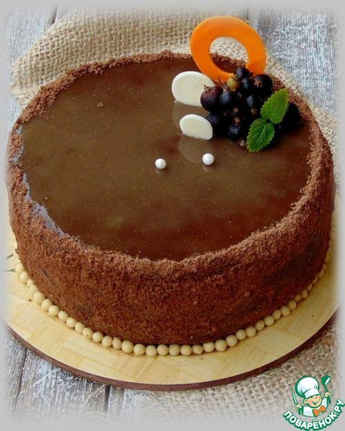 Шоколадный торт с черносмородиновым муссом - кулинарный рецепт