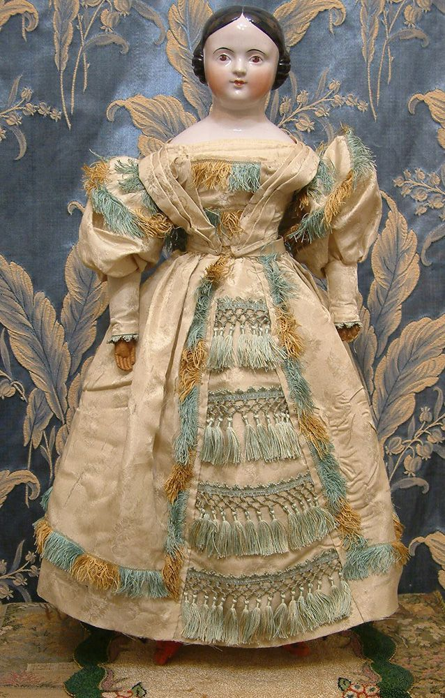 """Early 1840s China doll, 21"""" tall"""