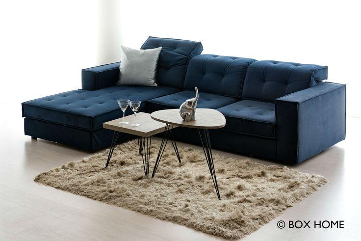 Γωνιακός καναπές DΑΜΑ με ανάκλιση & τραπεζάκια σαλονιού In Art