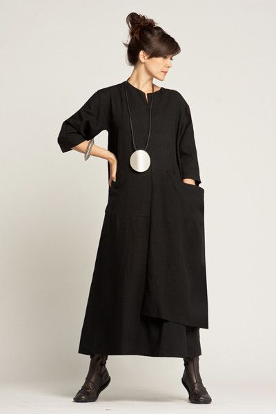 Abstract Dress in Black Roma