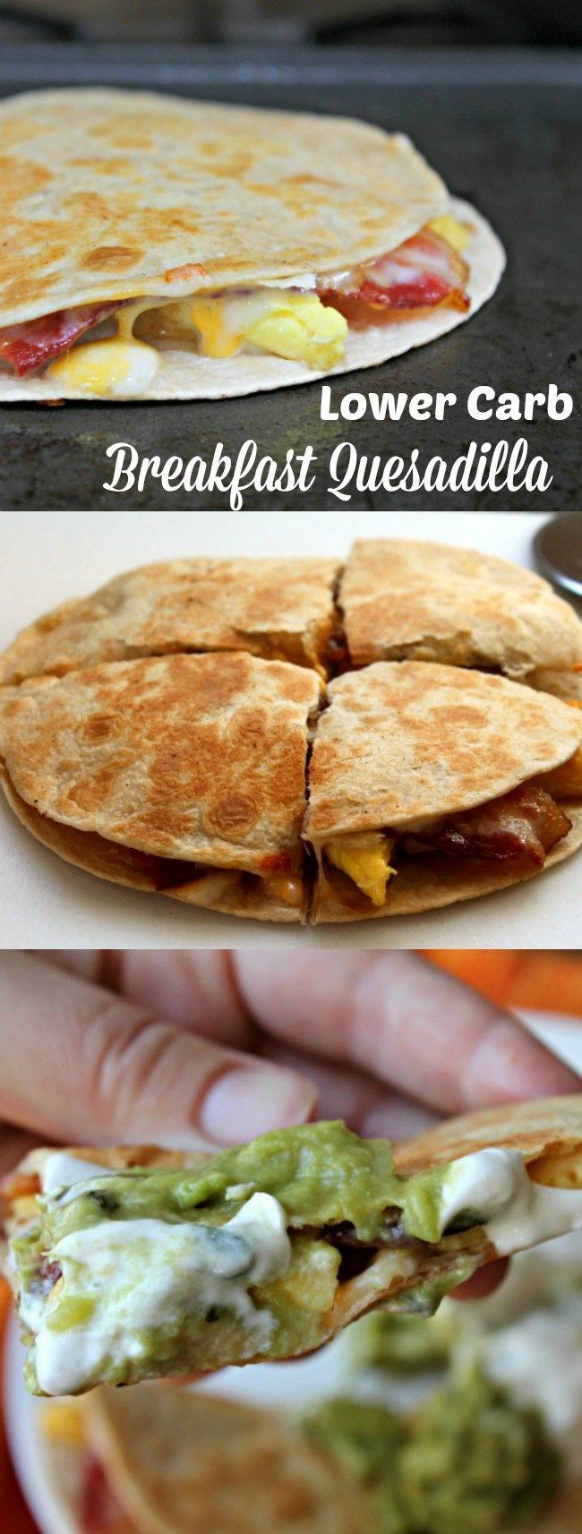 LOWER CARB BREAKFAST QUESADILLA! Quesadillas aren't just for dinner ...