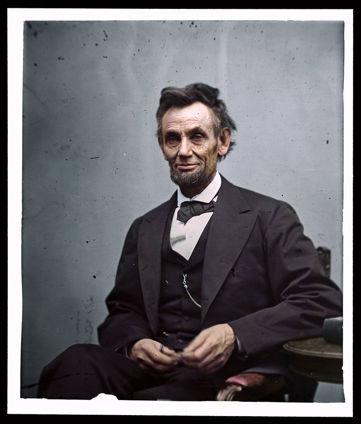 Abraham lincoln 1865 blk white photos in stunning color this famous photo was taken near the end of the american civil war in six days after the end of