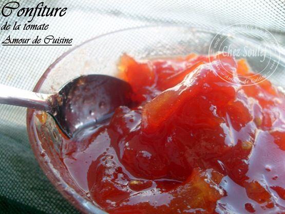 confiture a la tomate Bonjour tout le monde,  Comme promis, voila la recette de…