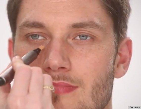 Masculine makeup for men. Interesting.
