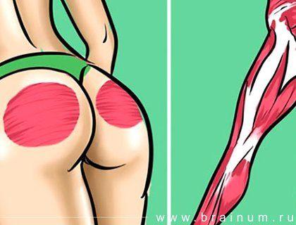 Не надо приседать! 5 крутых упражнений для упругой попы и грациозных ног!