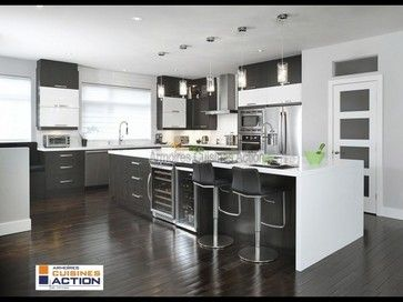 Land of Fire kitchen - modern - Kitchen Cabinets - Montreal - Armoires Cuisines Action