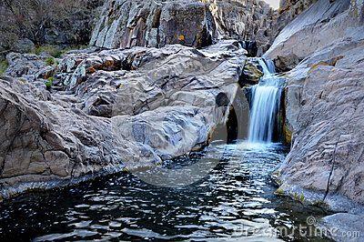 Olaen waterfall in the Pampa de Olaen, La Falda, Argentina