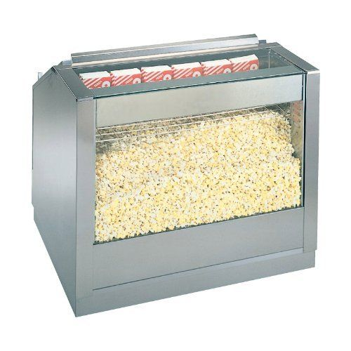 "Gold Medal 2343 30"" Front Counter Drop-In Staging Cabinet by Gold Medal. $1609.00. 480W, 120V. Forced-air crisping system keeps popcorn fresh. UL Listed. This 30"" wide drop-in popcorn staging cabinet features a popcorn crisping system to keep the product warm and fresh. . Additional Considerations. Please contact our product experts to learn about available options for this unit including: Gold Medal #2343BS - 6"" Roller Base, Gold Medal #2343BS34 - 8"" High Roller ..."