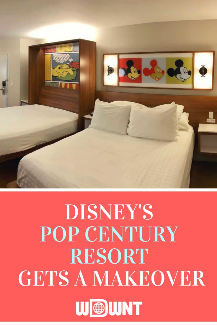 Disney Is Currently In The Process Of Remodeling All Of The Rooms At The Pop Century Resort And We Ha Disney Pop Century Disneys Pop Century Resort Pop Century