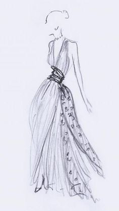Lovely Christian Dior sketch. I wonder if I could find a picture of the actual dress? I would try but I'm feeling to lazy for that...