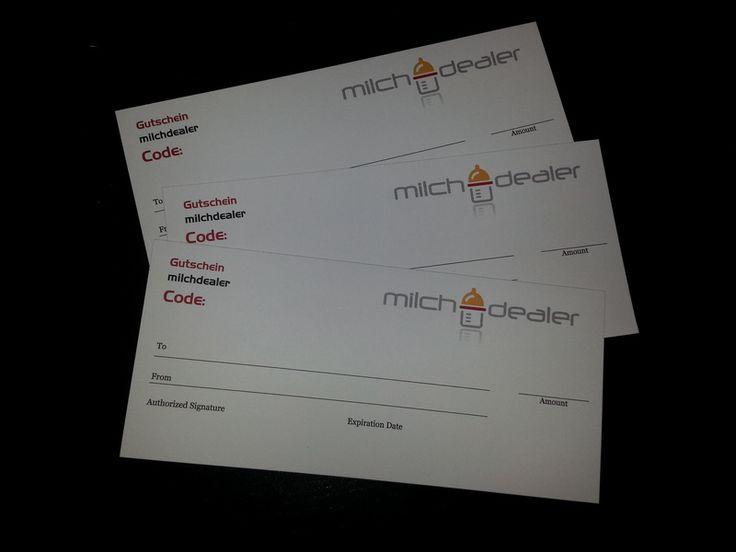 milchdealer Geschenkgutschein Wert 50€ von milchdealer auf DaWanda.com