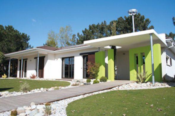 Plan maison - Maison à l'architecture bioclimatique