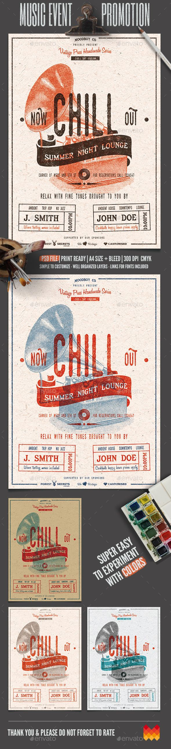 Chill Out  Lounge Flyer/Poster — Photoshop PSD #indie #scalable • Available here → https://graphicriver.net/item/chill-out-lounge-flyerposter/11906839?ref=pxcr