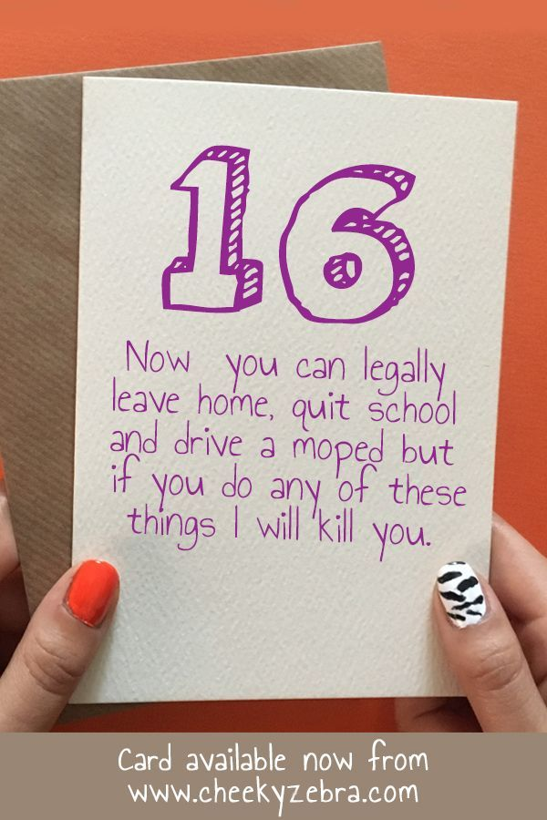 Pin On 16th Birthday Cards
