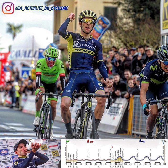 """GP Industria & Artigianato (1.HC)   1. Adam Yates (ORICA-Scott) in 4:51'00""""  2. Richard Carapaz (Movistar Team) s.t.  3. Rigoberto Uran (Cannondale-Drapac Pro Cycling Team) s.t.  4. Mattia Cattaneo (Androni Giocattoli – Sidermec) at 2""""  5. Egan Arley Bernal (Androni Giocattoli – Sidermec) s.t.  6. Simon Clarke (Cannondale-Drapac Pro Cycling Team) at 4""""  7. Francesco Gavazzi (Androni Giocattoli – Sidermec) at 17""""  8. Filippo Pozzato (Wilier Triestina) at 18"""""""