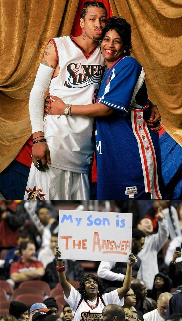 Allen Iverson & his mother