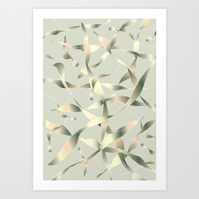 Silver Light Buds Art Print by Angelo Cerantola - $18.00
