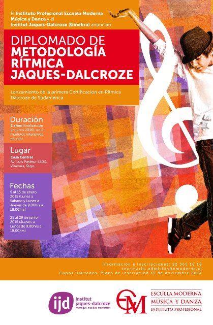 Diplomado de Metodologìa Rìtmica Jaques-Dalcroze. Ûnico certificado en Latinoamérica. Inscripciones hasta el 15 de noviembre