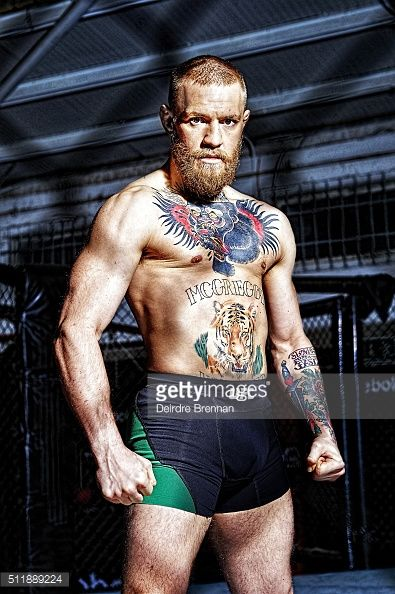 Portrait of UFC Featherweight champion Conor McGregor during photo shoot at Straight Blast Gym. Cover. Deirdre Brennan TK3 )