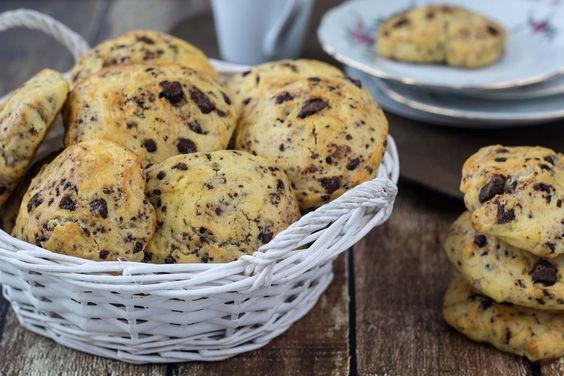 Opskrift på hjemmelavede lækre scones med chokolade