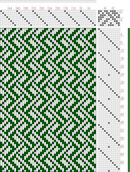 Hand Weaving Draft: Plate 45, Figure 9, Dictionary of Weaves Part I by E.A. Posselt, 8S, 11T - Handweaving.net Hand Weaving and Draft Archive