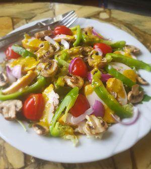 Salade met gerookte Kip