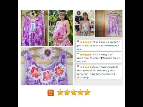 Plus Size Tunic - Hawaiian Shirt - Maternity #Top - Cotton Tunic - Plus Size Top - Workout Top - Plus Size Workout - Hand Painted T shirt #Tee #Clothing https://www.etsy.com/listing/222665448/plus-size-tunic-hawaiian-shirt-maternity