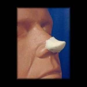 This pointed elf nose foam latex prosthetic can be used to create any elfin character for cosplay or Halloween.  This Elfin Nose foam appliance is available in