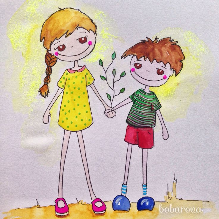 #bobarova #childrenillustration  #illustration #watercolor #illustrationgirls #children