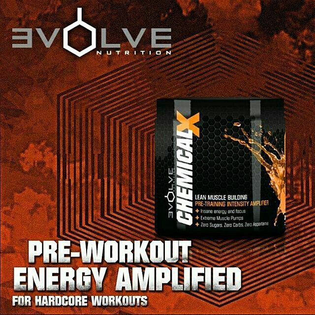 """Pre-workout   Evolve Nutrition Chemical X  LEAN MUSCLE BUILDING PRE-TRAINING INTENSITY AMPLIFIER Insane Energy and Focus Extreme Muscle Pumps Zero Sugars Zero Carbs Zero Aspartame  #preworkout  Reposting @evolvenutritionza:  ... """"Boost your performance like never before with Chemical X available at all leading Supplement retailers #evolvenutrition"""""""