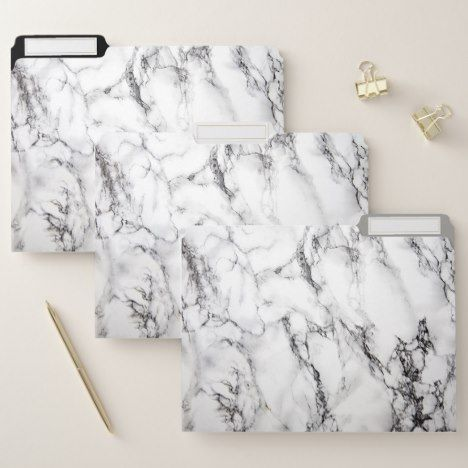 natural white and black marble texture file folder personalizednatural white and black marble texture file folder filefolders monogram diy officeproducts personalized