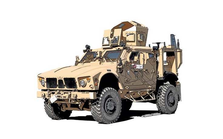 Oshkosh M ATV Military Vehicle Front View