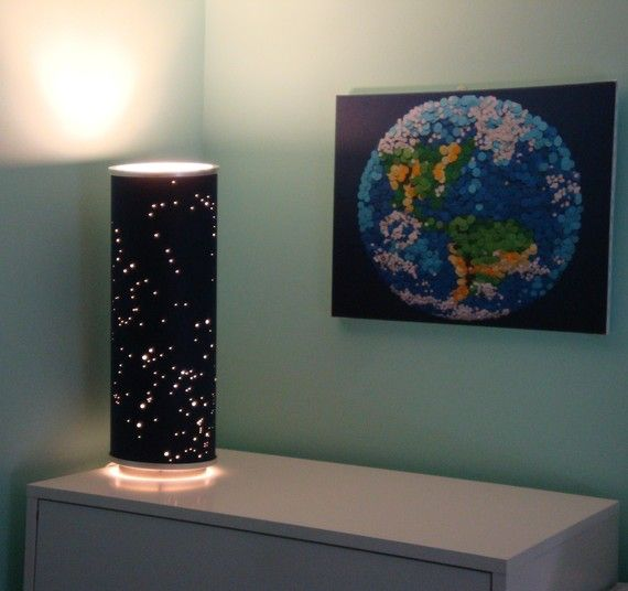Shadow Constellations Custom Shade & Table Lamp Spring by ddots