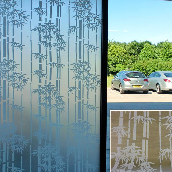 WHITE BAMBOO FROSTED DECORATIVE  WINDOW FILM - 90cm x 1m Roll S022
