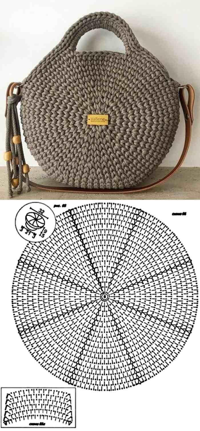 Faça e lucre: 26 modelos de bolsa de crochê com gráfico