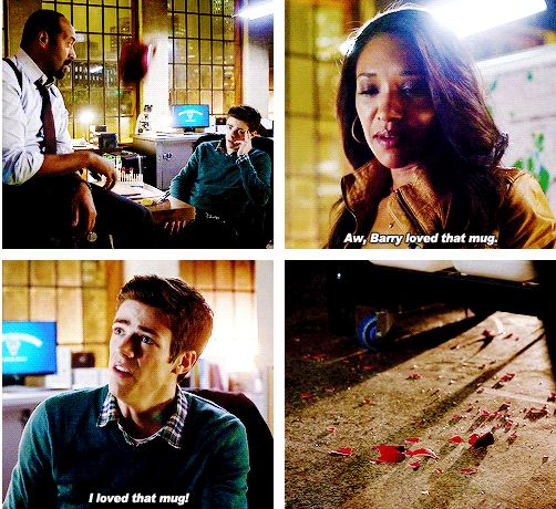 The Flash - Barry and Iris #1.7 #Season1. WestAllen.  Because she know which mug he favors at work