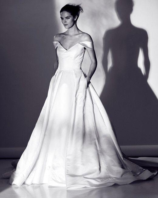 Rivini by Rita Vinieris Spring 2018 Wedding Dress Collection | Martha Stewart Weddings – Off-the-shoulder ball gown wedding dress