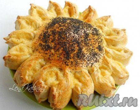 """Совершенно простой в приготовлении, очень вкусный, сытный пирог """"Подсолнух"""" украсит любой праздничный стол и порадует своим видом и вкусом ваших родных и гостей! Советую!"""