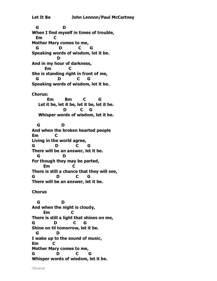 Lyric let it be the beatles lyrics : beatles lyrics for yesterday - Google Search | Music & Lyrics ...