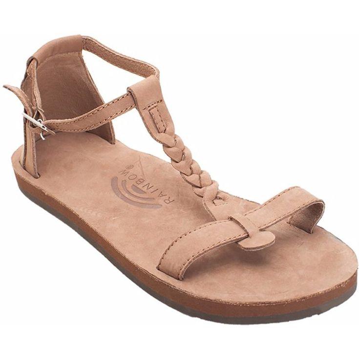 Rainbow Sandals Calafia Single Layer with Back Buckle Heel in Dark Brown