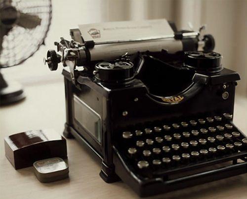 Old typewriter...