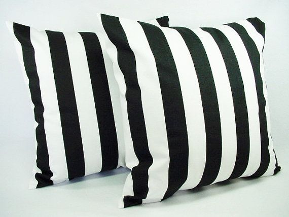 Two Black Pillow Covers - Decorative Pillow Sham - Damask Throw Pillow Covers - Black Pillows ...