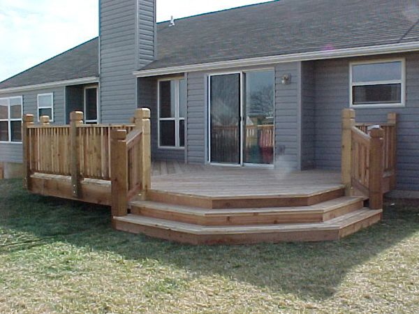Mobile home deck ideas decking boards plastic deck for Wooden porches for mobile homes