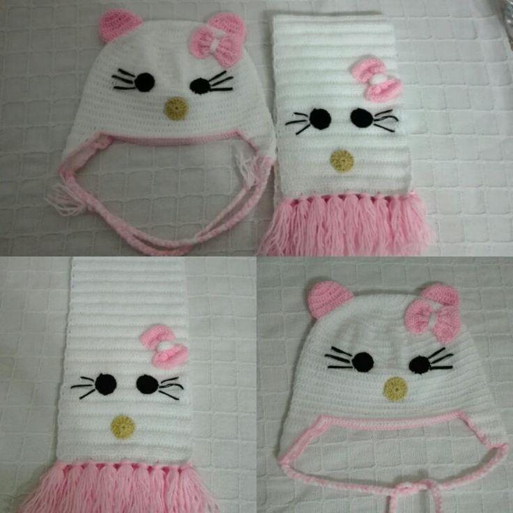 Hello Kitty Kız Çocuk Atkı&Bere Takımı