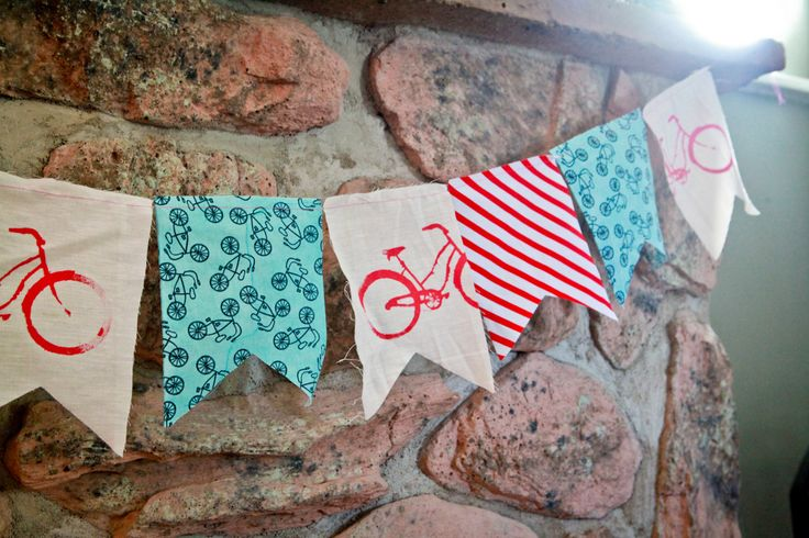 bicycle party garland