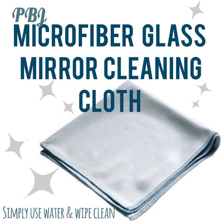 PBJ Microfiber Glass Mirror Cleaning Cloth www.cleaning-depot.ca