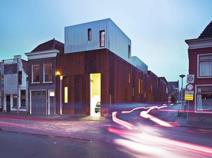 """Weathering steel clads """"pop temple"""" in Leiden by Ector Hoogstad Architecten"""