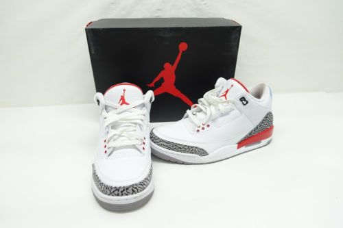 27f18647dff2 Nike Air Jordan 3 Retro Katrina Hall Of Fame Basketball Shoes 136064-116 Sz  10.5